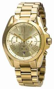 Michael Kors Gold tone Oversized Unisex Stainless Stel Designer Dress Watch