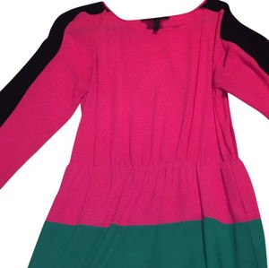 BCBGMAXAZRIA short dress Black, pink, green on Tradesy