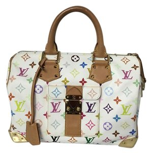 Louis Vuitton Speedy Alma Neverfull Speedy 30 Speedy Multicolored Satchel in Brown