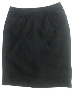 Halogen Denim Pencil Pocketed Skirt Dark Blue