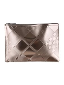 Burberry Taupe metallic Clutch