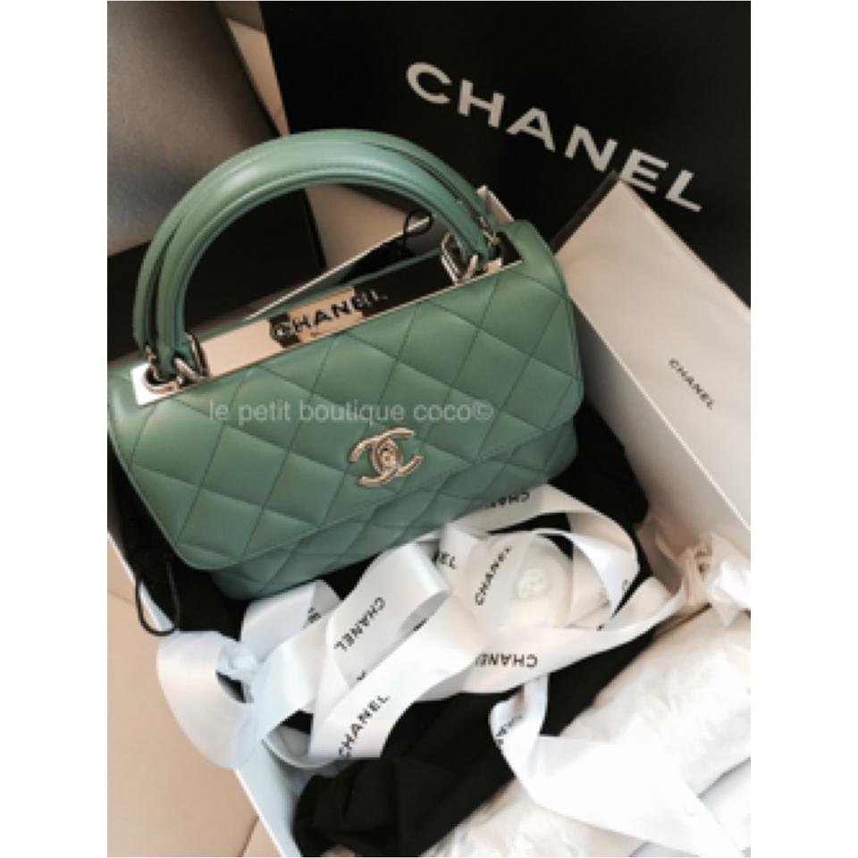 857cd464c248 Chanel Classic Flap Trendy Cc Minty Limited Edition Ghw Rare Green Leather Cross  Body Bag - Tradesy