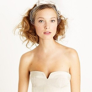 J.Crew Ivory Birdcage Bow By Jennifer Behr Collection Bridal Veil