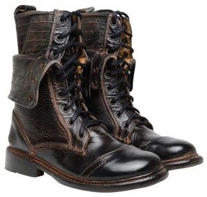 Bed Stü Roanne Combat Size 6.5 Leather New In Box Black Boots