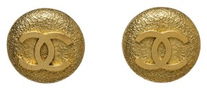 Chanel Chanel Gold CC Clip On Earrings 94A
