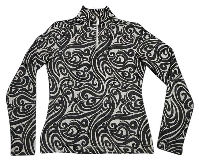 Item - Black and White Thermal Activewear Top Size 10 (M, 31)