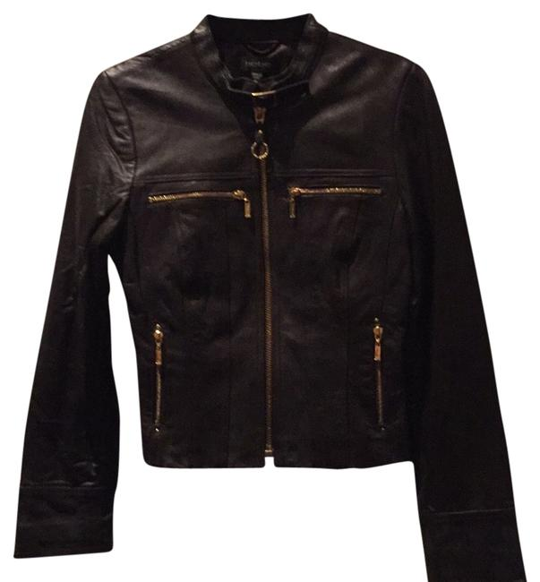 Item - Chocolate Brown Zippers Moto Jacket Size 0 (XS)