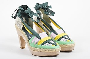 Stella McCartney Green Pink Multi-Color Pumps
