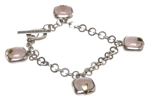 Franco Pianegonda Pianegonda Sterling Silver and Rose Quartz Bracelet 6779