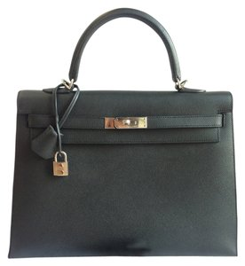 Hermès Hermes Epsom Kelly 35 Satchel in black