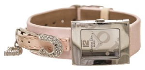 Dior Christian Dior Stainless Steel and Pink Satin Watch