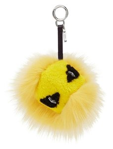 Fendi Bee Eye Tria Fur Bag Bug Monster Key Chain Bag Charm