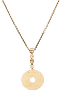BVLGARI Bvlgari Gold Chain and Medallion Necklace