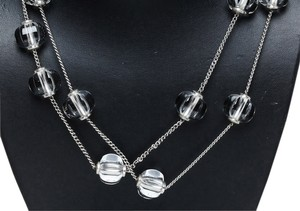 Baccarat Baccarat Sterling Silver and Crystal Station Necklace