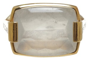 BVLGARI Bvlgari Gold and White Ring (Size 6.25)