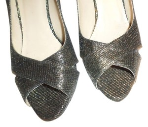 Kate Spade New York Silver Glitter BRONZE Pumps