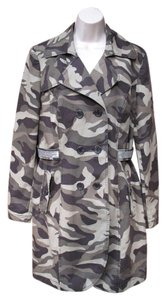 INC International Concepts Trench Sequin Camo Jacket