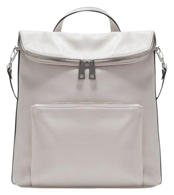 Item - New Sporty Cream Faux Leather Backpack