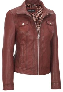Black Rivet Leather Oxblood Leather Jacket