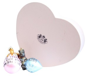 Juicy Couture Juicy Couture Collectible 4ct Ornament Holiday Christmas Set