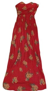 Coral/floral Maxi Dress by American Rag
