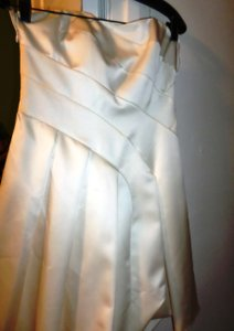 A.B.S. By Allen Schwartz WHITE /Ivory Abs White /ivory Pleat Dress Dress