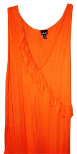 orange Maxi Dress by Rafaella Full Skirt