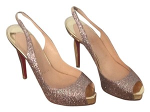 Christian Louboutin Multi Glitter/Gold Pumps