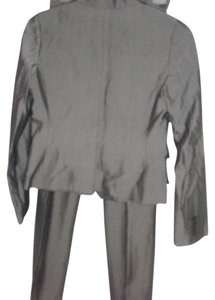 BCBGMAXAZRIA Grey 42% Ramie 30% Polyester 25% Wool Blend Pants Suit Size S