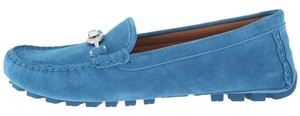 Coach Peacock suede driver Flats