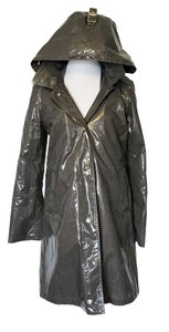 Michael Kors Coated Removable Liner Designer Hood Raincoat