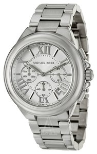 Michael Kors Silver tone Stainless Steel Designer Casual ladies Fashion Watch