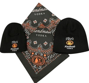 4-Piece Bandanas and Beanie Set with embroidered