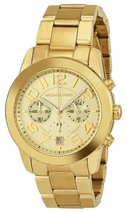 Michael Kors Gold tone Stainless Steel Casual Designer Ladies Watch