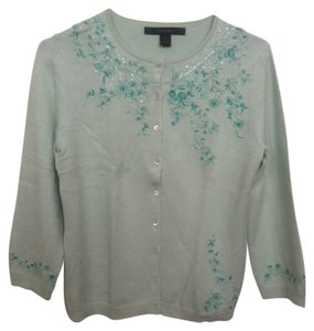 Express Embroidered Silk Cardigan