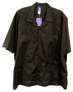 Other Guayanera Shirt Vodka Short-sleeve Button Down Shirt Black-Orange