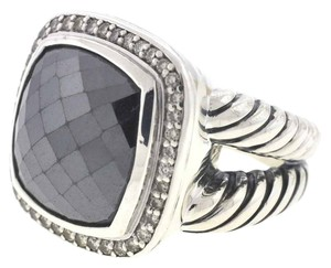 David Yurman DAVID YURMAN Albion Sterling Silver Hematine & Diamonds Ring