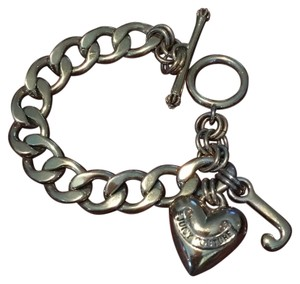 Juicy Couture Juicy Couture Banner Heart Charm Bracelet