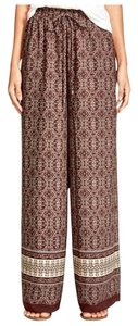 Soprano Bohemian Tribal Casual Basic Comfy Straight Pants brown