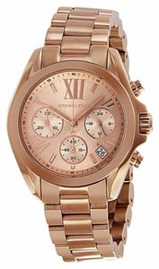 Michael Kors Rose Gold Stainless Steel Casual Designer Dress ladies Watch