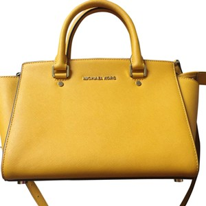 cdb294a47af4 Yellow MICHAEL Michael Kors Satchels - Up to 90% off at Tradesy