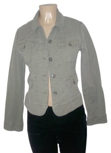 Lucky Brand Olive Green Womens Jean Jacket