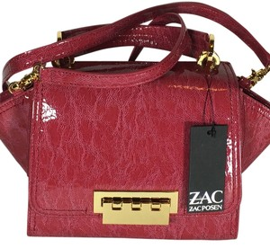 Zac Posen Eartha Crossbody Patent Leather Satchel in Pink