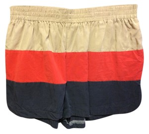 Lark & Wolff Urban Outfitters Stripes Shorts Beige/Red/Navy