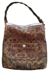 Coach Braided Handle Logo Shoulder Bag