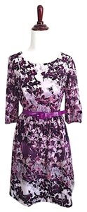 Kensie short dress purple Floral Belted Party Wedding Cute on Tradesy