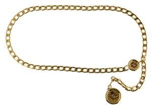 Chanel Gold-tone Chanel chain-link interlocking CC logo charm belt