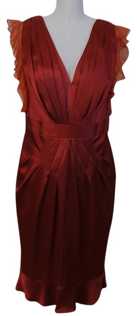 Preload https://item5.tradesy.com/images/abs-by-allen-schwartz-copper-burnt-orange-rust-ruffle-knee-length-night-out-dress-size-12-l-1306559-0-0.jpg?width=400&height=650
