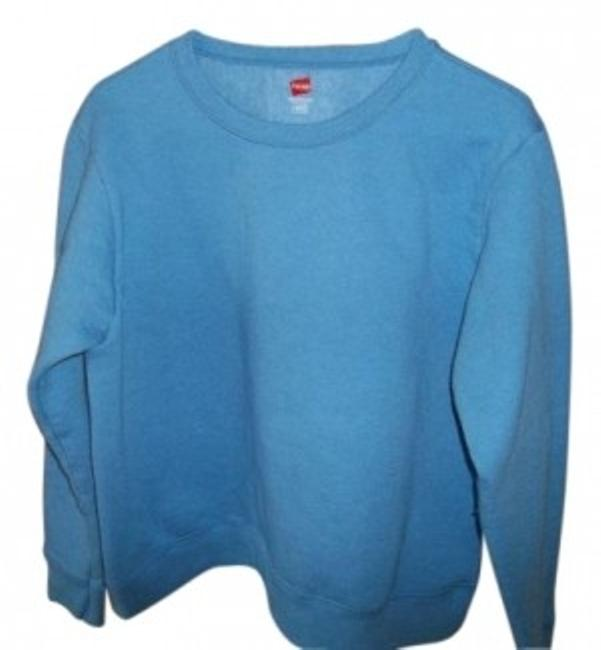 Preload https://item2.tradesy.com/images/hanes-light-blue-sweatshirthoodie-size-12-l-13066-0-0.jpg?width=400&height=650