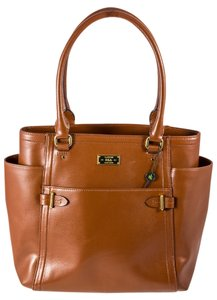 Ralph Lauren Chriswell Goldtone Hardware Tote in Bourbon